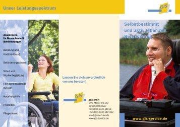 Assistenzen für Menschen mit Behinderung - bei der gGIS mbH