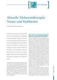 Aktuelle Melanomtherapie: Neues und Etabliertes
