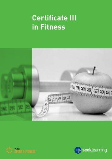 Certificate III in Fitness - SEEK Learning