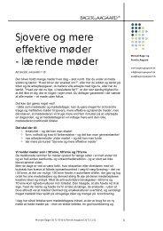 Sjovere og mere effektive møder - BAGER og AAGAARD.dk
