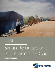 Lost: Syrian Refugees and the Information Gap - Internews