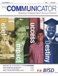 October Communicator - Bastrop Independent School District