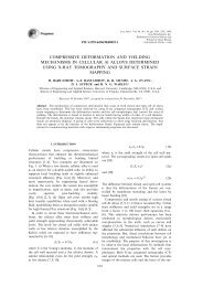 COMPRESSIVE DEFORMATION AND YIELDING MECHANISMS IN ...