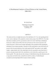 A Distributional Analysis of Fiscal Policies in the ... - Tax Foundation