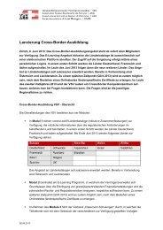 Lancierung Cross-Border-Ausbildung - VSV