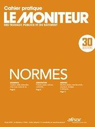 Cahier pratique - Le Moniteur des travaux publics et du ... - Afnor