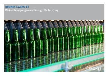 krones Lavatec E3 Kleine Reinigungsmaschine, große ... - drinktec