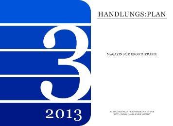handlungs:plan-Magazin Ausgabe 3-2013 - PDF-Version