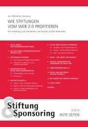 Stiftung & Sponsoring – Rote Seiten - VolkswagenStiftung