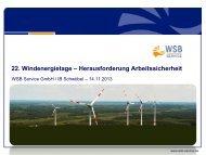 Vortrag zum Abruf als PDF - 22. Windenergietage