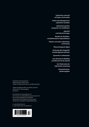 Download, 5 MB - Förderverein der Sukkulenten-Sammlung Zürich