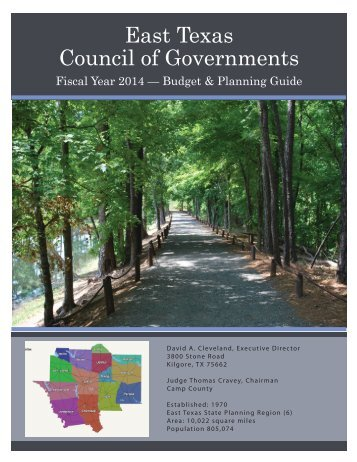 9/10/13 - FY 2014 Budget - East Texas Council of Governments