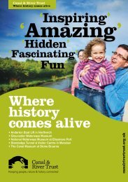 Where history comes alive - Canal & River Trust