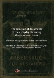 The selection of documents of the everyday life during - Fundacja ...