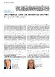 Langfristige Aufträge nach Swiss GAAP FER, Eine konzeptionelle ...