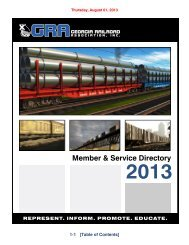 Download Directory - Georgia Railroad Association