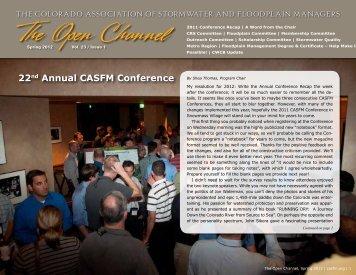 Spring 2012 - Colorado Association of Stormwater and Floodplain ...