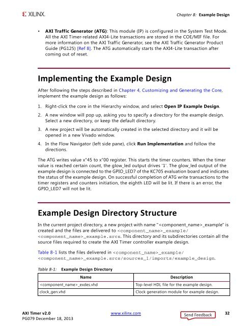 Chapter 8: Example Design