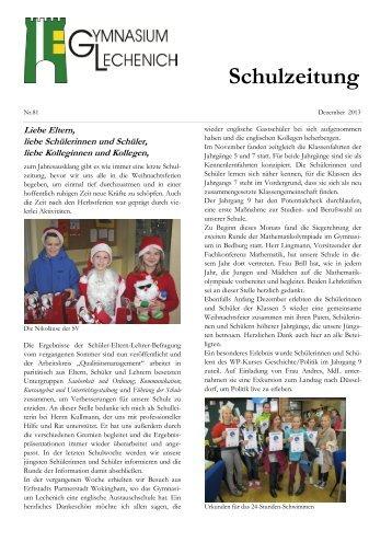 Schulzeitung Weihnachten 2013 (Nr. 81) - Gymnasium Lechenich