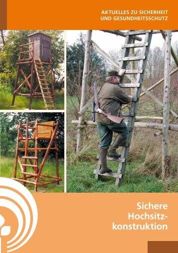 Sichere Hochsitzkonstruktion 15 - SVLFG
