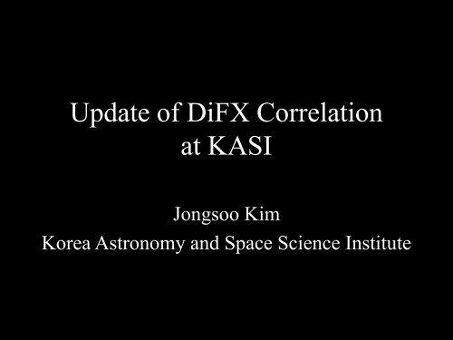 Update of DIFX correlation at the KASI - CIRA