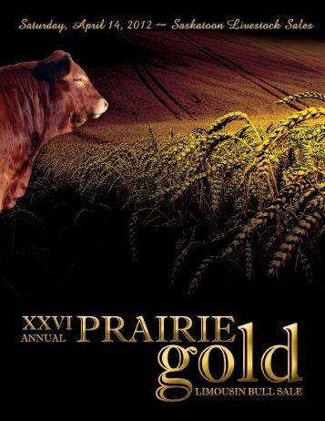 Prairie Gold Limousin Bull Sale • Saturday, April 14, 2012 • 1:00 PM ...