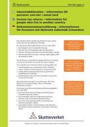 Inkomstdeklaration – information till personer som bor ... - Skatteverket