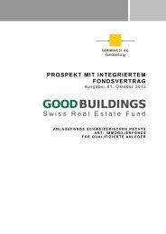 Prospekt oder im Fondsvertrag - Good Buildings
