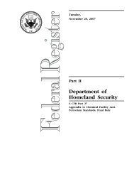 Appendix A to 6 CFR 27 (Published 11-20-2007) - Homeland Security
