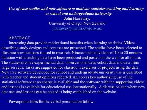 GTL Software - Conker Statistics