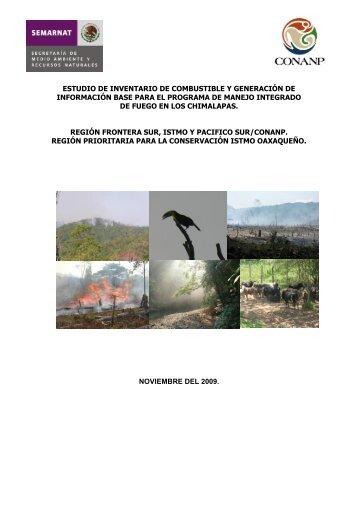 ESTUDIO DE INVENTARIO DE COMBUSTIBLE Y ... - Conanp
