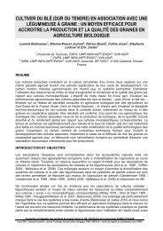 CULTIVER DU BLÉ (DUR OU TENDRE) EN ASSOCIATION ... - Arvalis