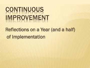Continuous Classroom Improvement - Quality Texas