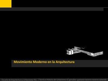 Movimiento Moderno en la Arquitectura - TEC Digital