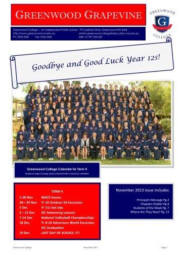 November 2013 - Greenwood College