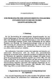 ZUR PROBLEMATIK DER GENUSZUORDNUNG ENGLISCHER ...