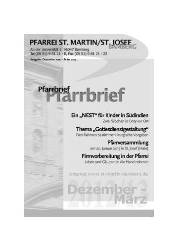 Pfarrbrief 2012 - Ausgabe 3 - St. Martin / St. Josef