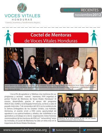 Coctel de Mentoras de Voces Vitales Honduras
