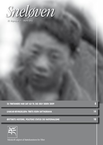 Sneløven 2012, 21. årgang nr. 1 (hent pdf) - Støttekomiteen for Tibet