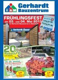 20 % Rabatt FRÜHLINGSFEST am 03. und 04. Mai 2013 im ...