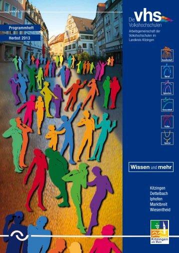 Aktuelles Programm als PDF-Datei anzeigen. - vhs ...in Kitzingen