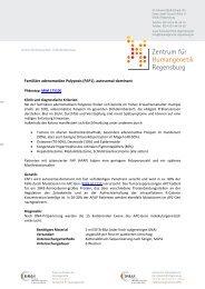 (FAP1), autosomal-dominant - Zentrum für Humangenetik Regensburg