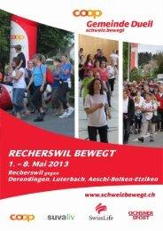 Programm 2013 RE - Schweiz bewegt