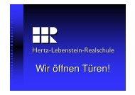 Wir öffnen Türen! - Herta Lebenstein Realschule
