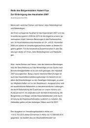 Rede des Bürgermeisters Hubert Frye zur Einbringung ... - Saterland