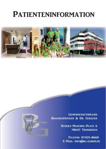 Patienteninformation - Gemeinschaftspraxis Braunschweiger & Dr ...