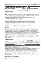 und Biotechnologie - Allgemeine Studienberatung an der TU-Berlin