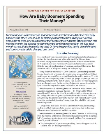 How Are Baby Boomers Spending Their Money? - National Center ...