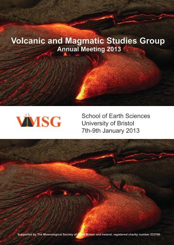 Volcanic and Magmatic Studies Group - VMSG