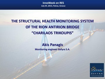 THE STRUCTURAL HEALTH MONITORING SYSTEM OF THE RION ...